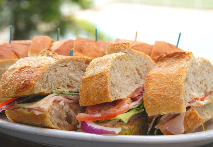 Picnic style sandwiches